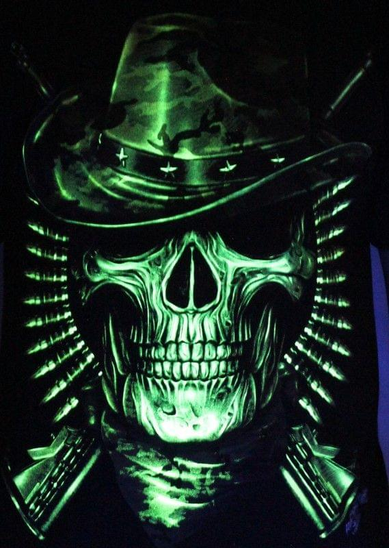 Prowler Hunter - Glow in the Dark Radium Neon UV High definition 3D Club Tshirt Buy Online in India