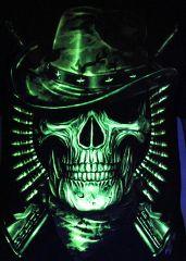 Prowler Hunter - Glow in the Dark Radium Neon UV High definition 3D Club Tshirt Buy Online in India