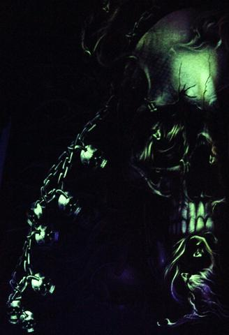 Smoking Tantra  Glow in the Dark Radium Neon UV High definition 3D Club Biker Tattoo Tshirt Buy Online in India