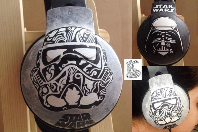 handpainted Star Wars headphones !!  - Philips SHP1900