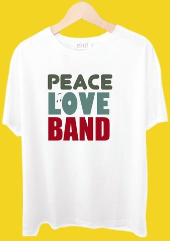 Peace Love Band Tshirt