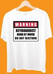 Warning Keyboardist Hard At Work Tshirt