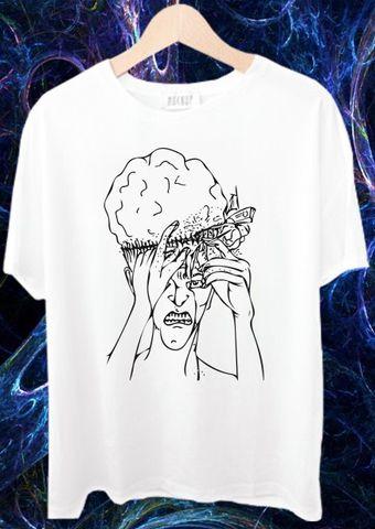 Mind fucked Hard psy Trippy Psychedelic tshirts