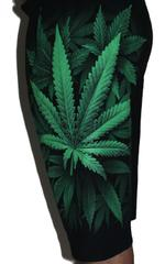 Green Weed Premium Shorts Free Size (28 inches to 40 inches)