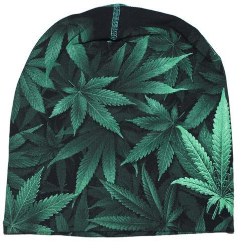Weed Green Beanie Cap