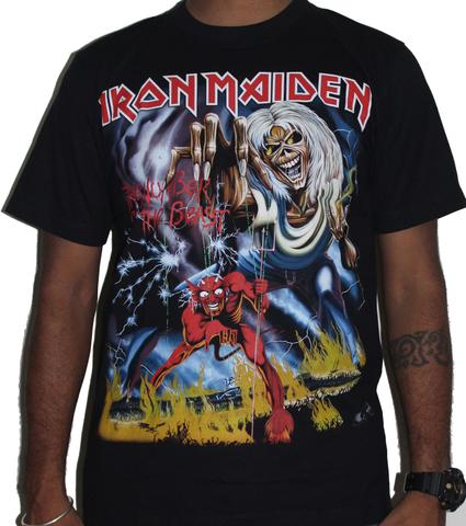 Iron Maiden  - Number of the beast 666 Premium Tshirt