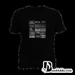 Retro Music Mens round neck  T-shirt