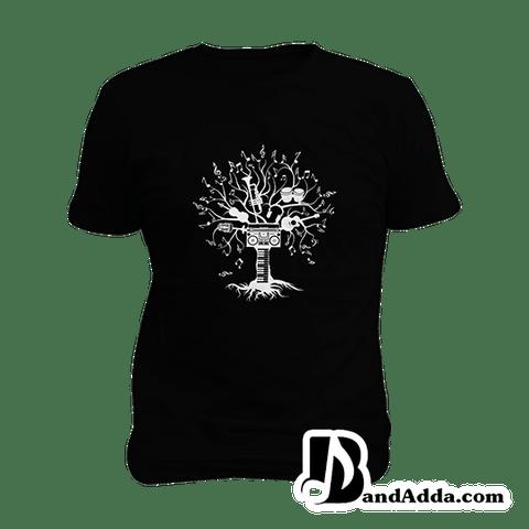 Tree of Music Mens round neck  T-shirt