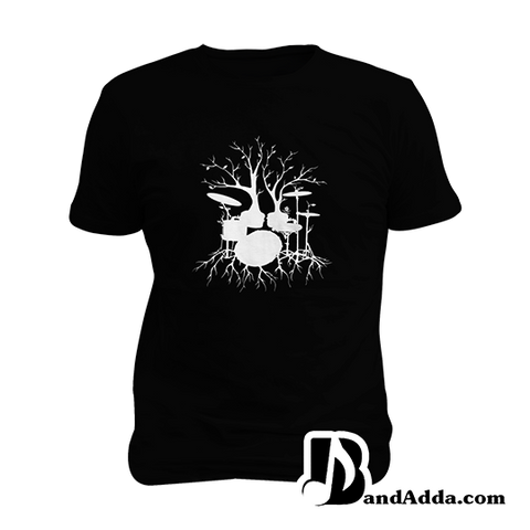 Drummer Dreams in Roots Mens round neck  T-shirt
