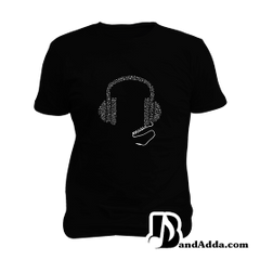 Music All Day Mens round neck  T-shirt