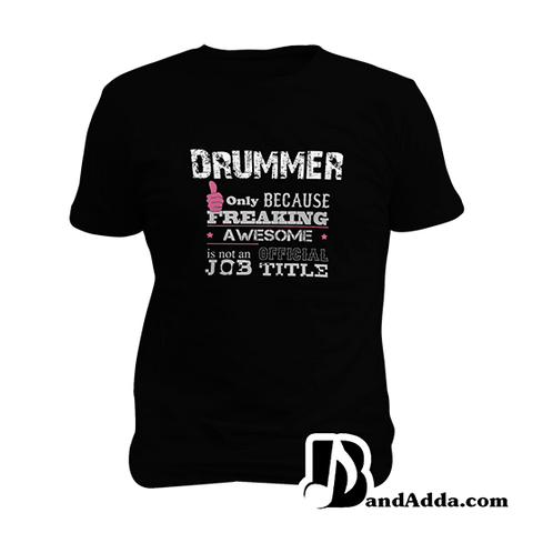 Awesome Drummer Mens round neck  T-shirt