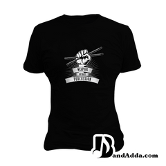Weapon of Mass Percussion - Drummer round neck  Women T-shirt