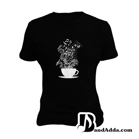 Cup of the Songs round neck  Women T-shirt