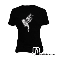 Be a Musical Bird buddy round neck  Women T-shirt