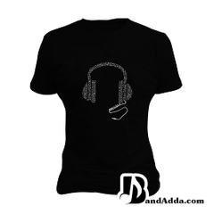 Music All Day round neck  Women T-shirt