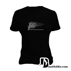 Nature of the song - It flows round neck  Women T-shirt