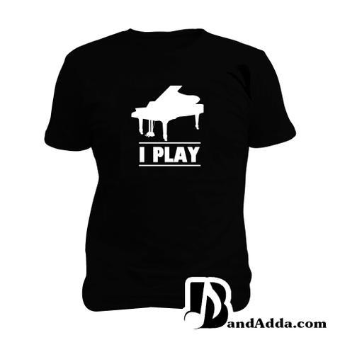 I play Piano Man Music T-shirt