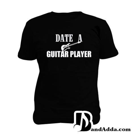 Date a Guitarist Man Music T-shirt