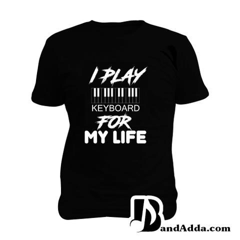 Keyboard for Life Man Music T-shirt