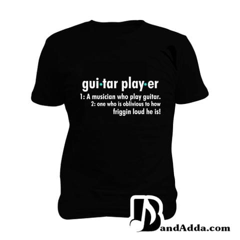 Guitar Player Definition  Man Music T-shirt