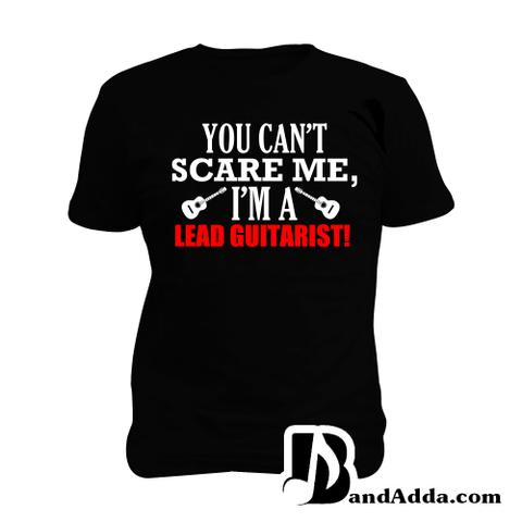 Fearless Lead Guitarist Man Music T-shirt