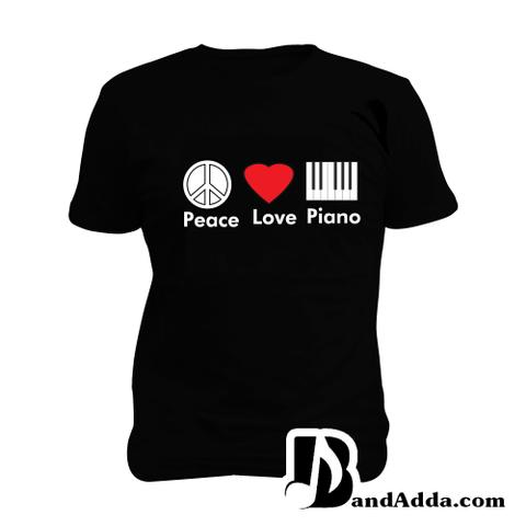 Peace Love Piano Man Music T-shirt