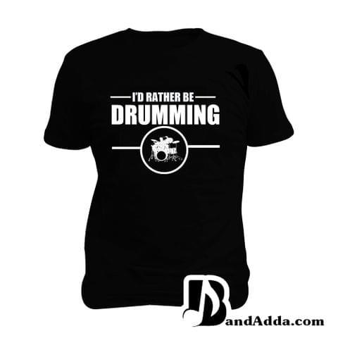 Rather be Drumming Man Music T-shirt