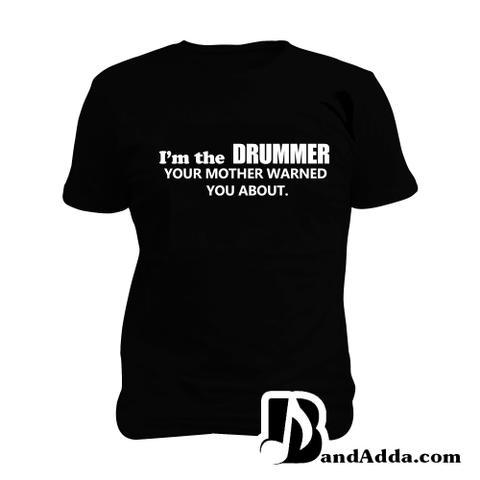 Warning Drummer Man Music T-shirt