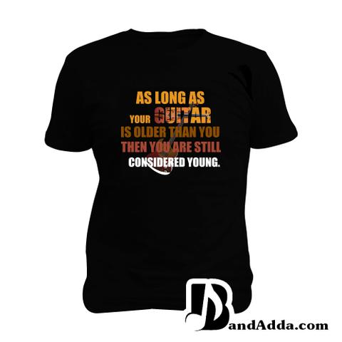 Young Guitarist Rules Man Music T-shirt