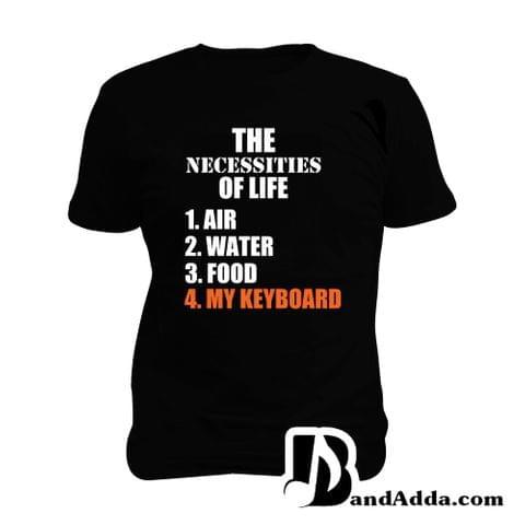 Keyboard Basic Needs Man Music T-shirt