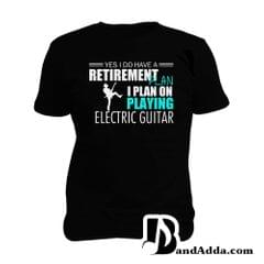 Guitarist Retirement Plan Man Music T-shirt