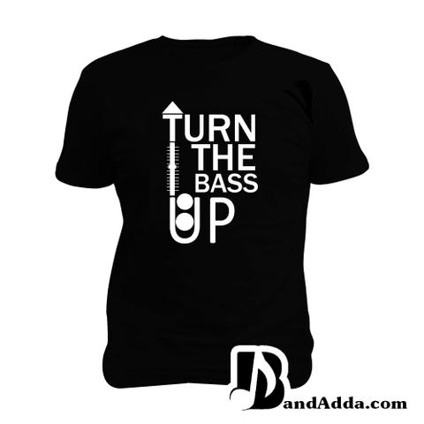 Turn the Bass Up Man Music T-shirt