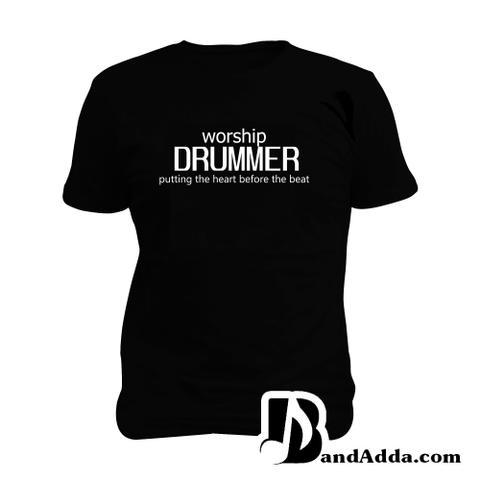 Drummer : Heart Before the Beat Man Music T-shirt