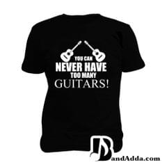 Too many Guitars Man Music T-shirt