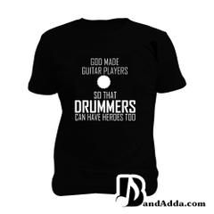 Guitarist - Drummers - Superheroes Man Music T-shirt