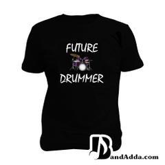 Future Drummer Man Music T-shirt