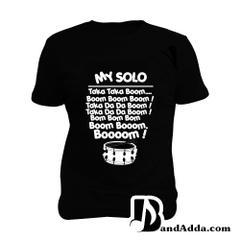 Drum Solo Man Music T-shirt