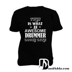 Awesome Drummer Man Music T-shirt