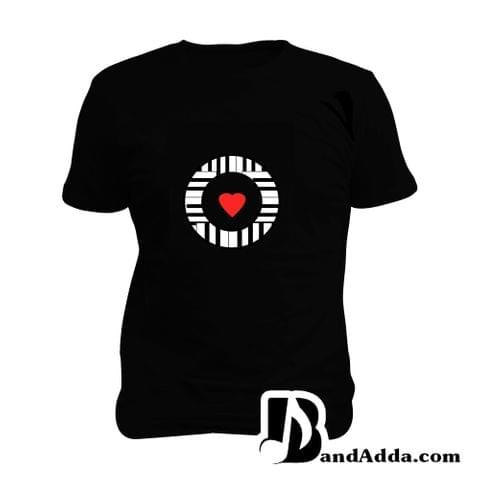 Keyboardist Heart Art Man Music T-shirt