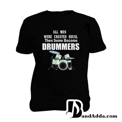 Unequal Drummer Man Music T-shirt