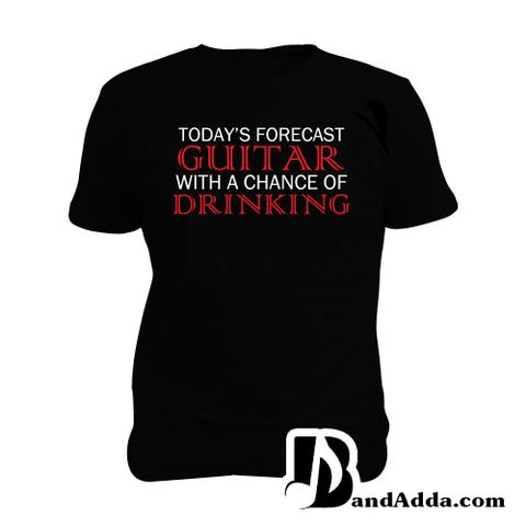 Guitarist Forcast Man Music T-shirt