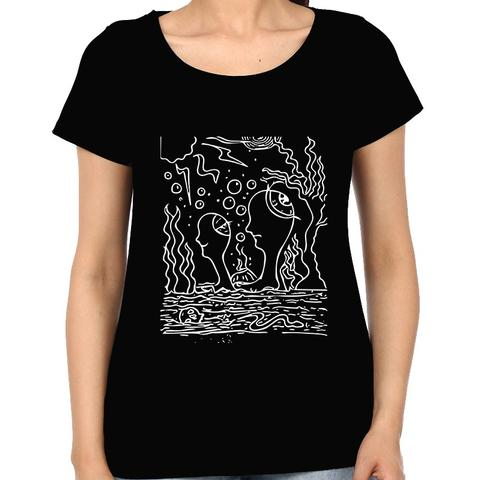 Ocean of Thoughts in Storm Trip psy Trippy Psychedelic  Woman Music t-shirt