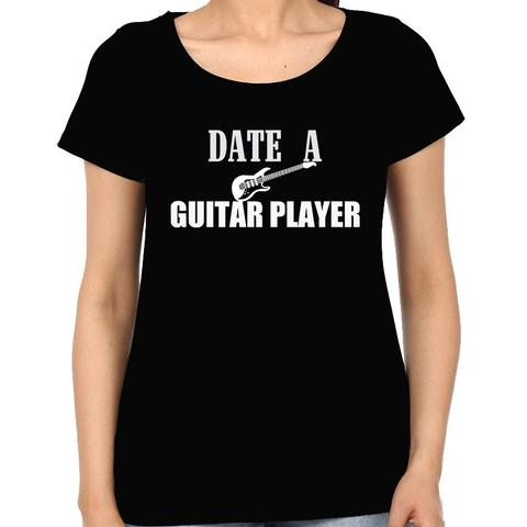 Date a Guitarist Woman Music t-shirt