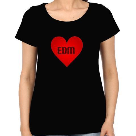Love for EDM Woman Music t-shirt