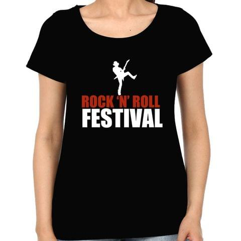 Rock n Roll Festival Woman Music t-shirt
