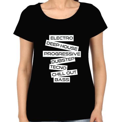 EDM - Dubstep House Progressive Trance Hardstyle Drum Bass Electro Industrial Rave  Woman Music t-shirt