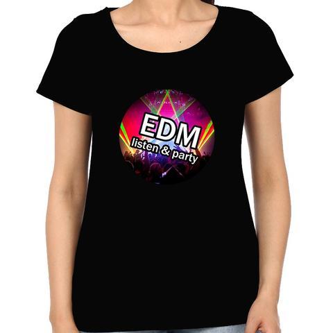 EDM Party Woman Music t-shirt