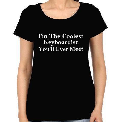 Coolest Keyboardist Woman Music t-shirt