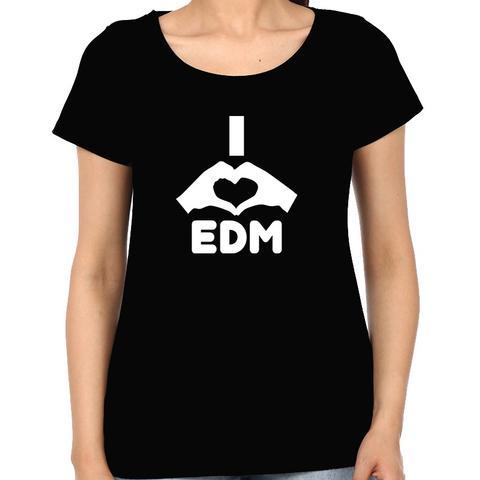 Love EDM Woman Music t-shirt