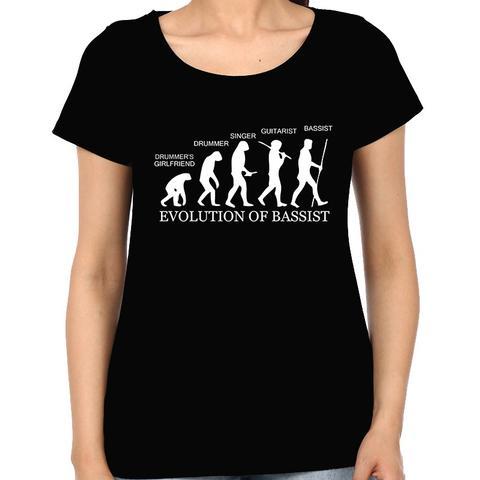 Evolution of Bassist Woman Music t-shirt